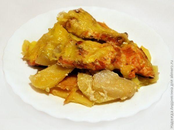 горбуша филе на коже рецепты в духовке