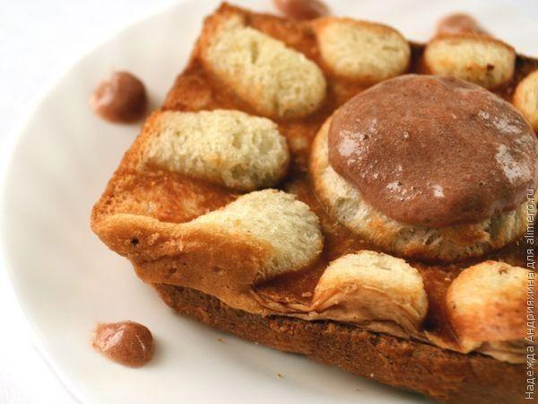 Крок-месье на десерт
