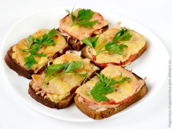 рецепты бутербродов из черного хлеба