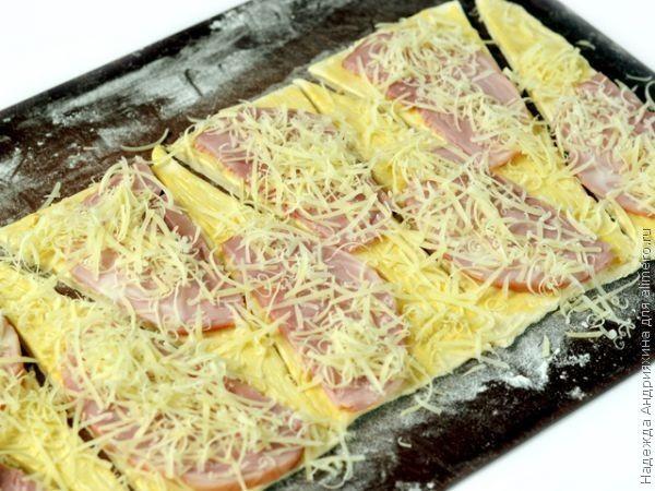 Круассаны с сыром и ветчиной