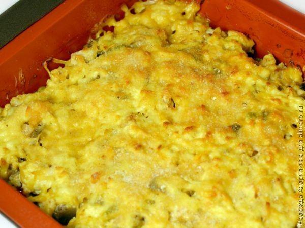 Овощная запеканка с цветной капустой в духовке рецепт