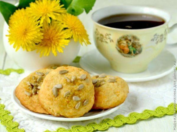 Печенье из творога с семечками и коричневым сахаром