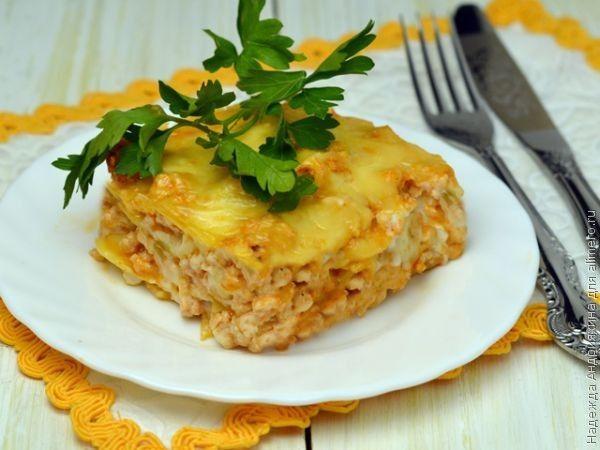 Рис с куриным фаршем в духовке рецепт с фото