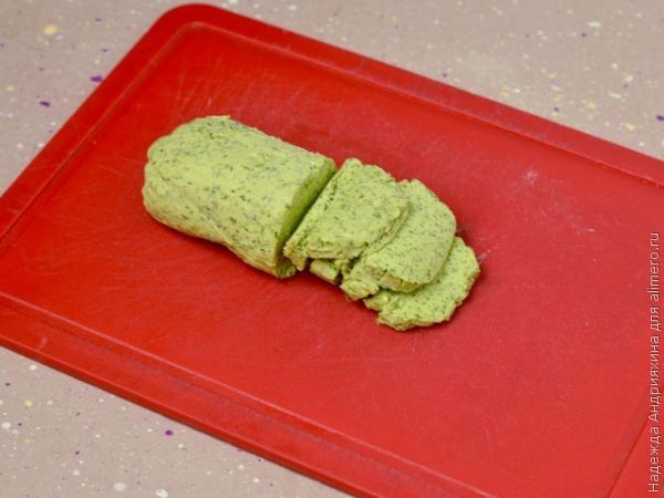 Котлеты с зеленым маслом