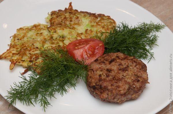 котлеты из кабачков и картофеля Котлеты из кабачков и фарша - povar.ru