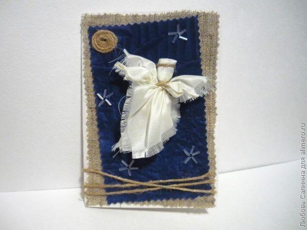 Рождественская открытка с ангелочками своими руками