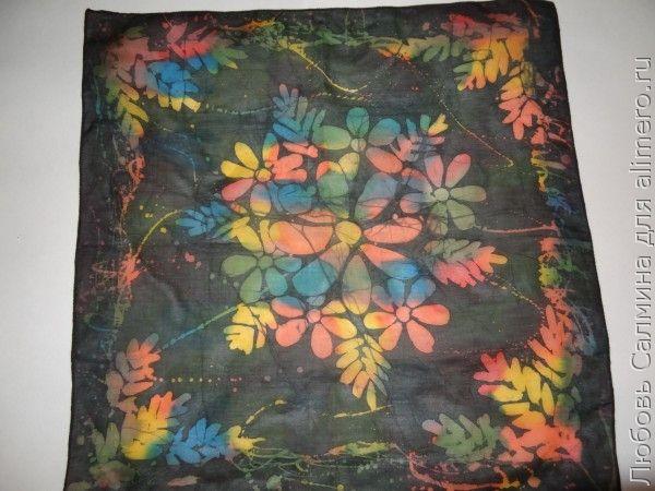 Горячий батик — мастер-класс по росписи платка
