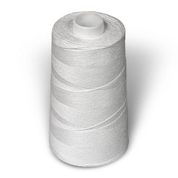 Можно использовать армированные нитки. Я покупаю сразу те, где большая  намотка. Использовать желательно белый цвет.