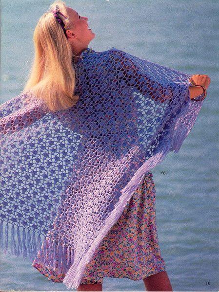 Красивая и очень легкая в вязании шаль. Ее легко может освоить даже начинающая вязальщица. Согласитесь, не обязательно делать шаль огромных размеров.