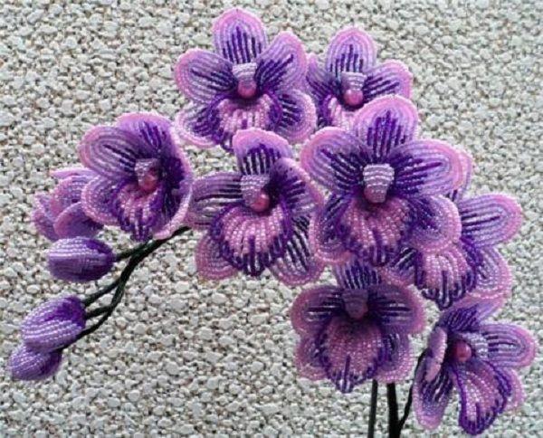Многие любят орхидеи, которые очень прихотливы при разведении. Сделать такую красоту из бисера можно, хоть и потребуется много времени.