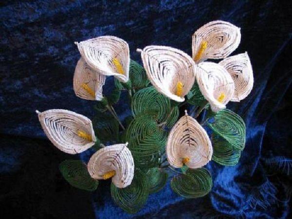 Цветы из бисера. 1 из 15