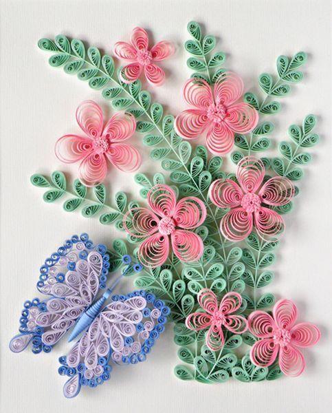 Красивые панно с цветами в технике квиллинг создавать не сложно, это под силу даже новичкам. Главное знать основные принципы.