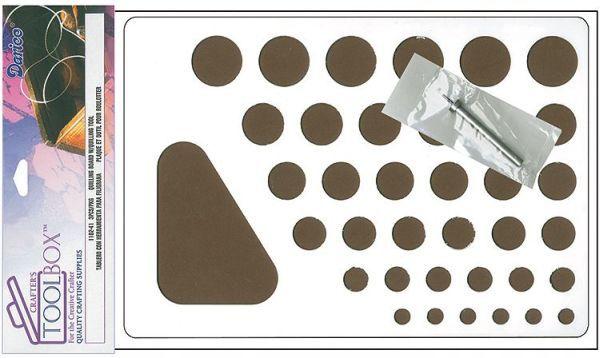 Чтобы получить самые разнообразные завитушки можно использовать специальные трафареты для квиллинга или простую линейку с кругляшками разного диаметра.