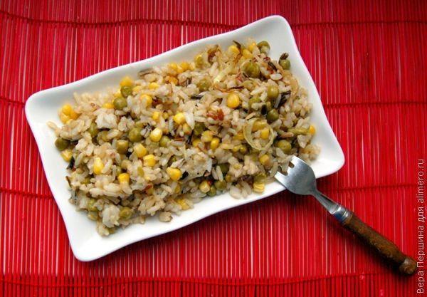 Рис с горошком рецепт