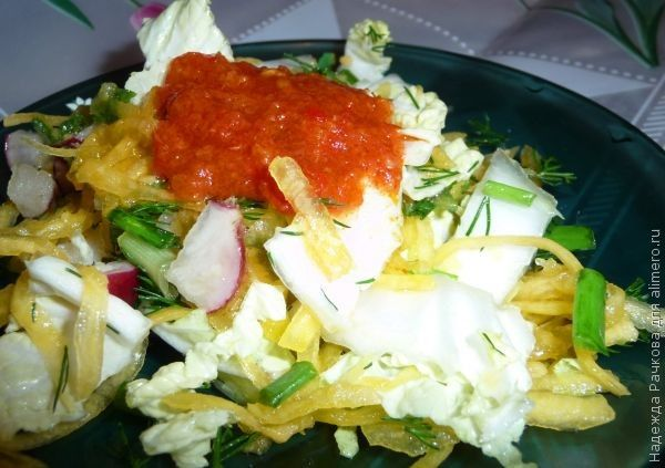 Легкий вкусный салат