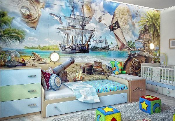 Дизайн детской комнаты для двух девочек одного и разных