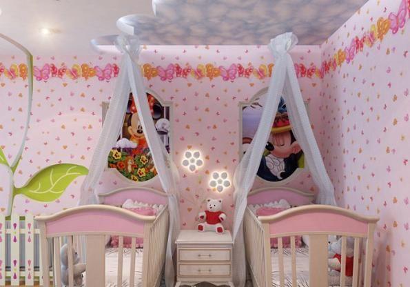 Детская комната для двоих девочек дизайн
