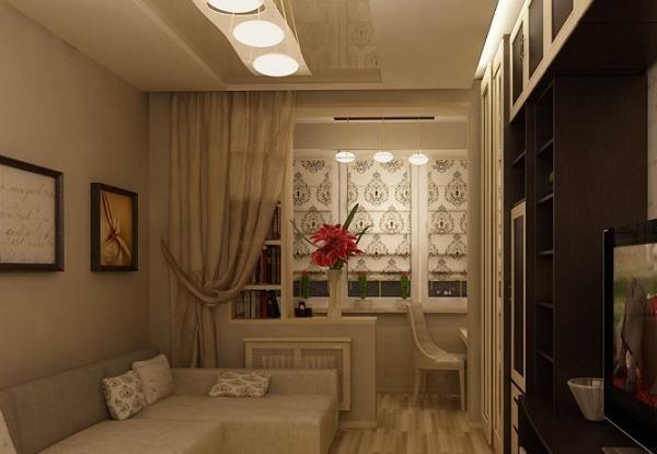 Ремонт в спальне с обьедененым балконом фото.