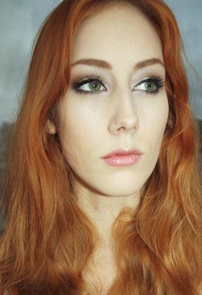 макияж для рыжих с зелеными глазами с фото
