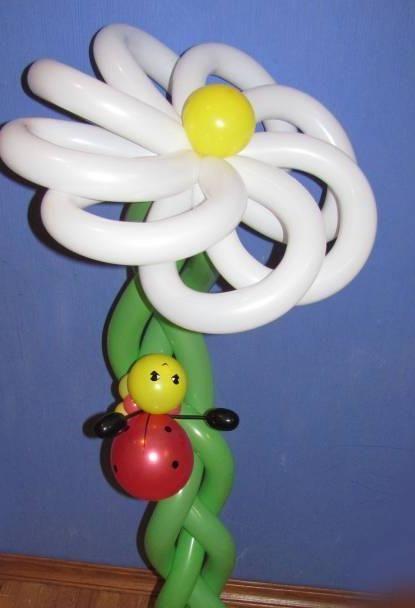 Сделать цветок из воздушных шаров своими руками