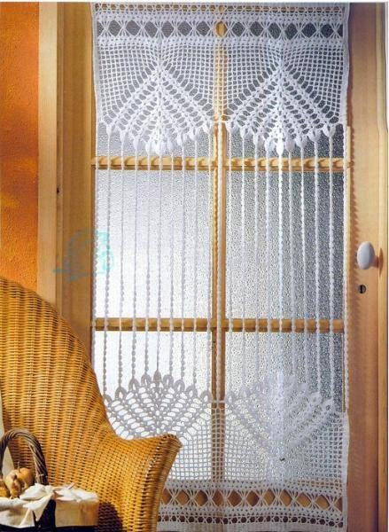 Вязание крючком шторы. 1 из 15