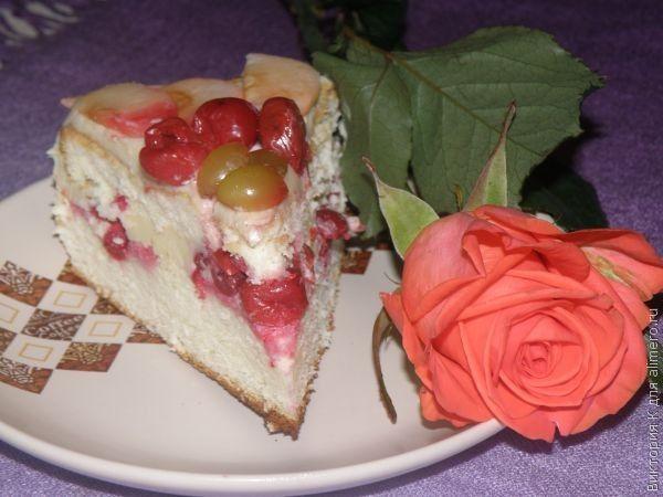Бисквитный торт со сливочным кремом