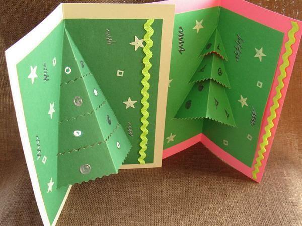 Елочка открытка на новый год своими руками
