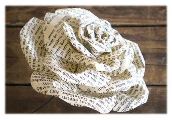 Цветы из газеты своими руками