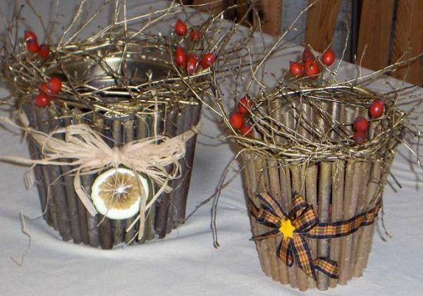 Декор горшочков для цветов