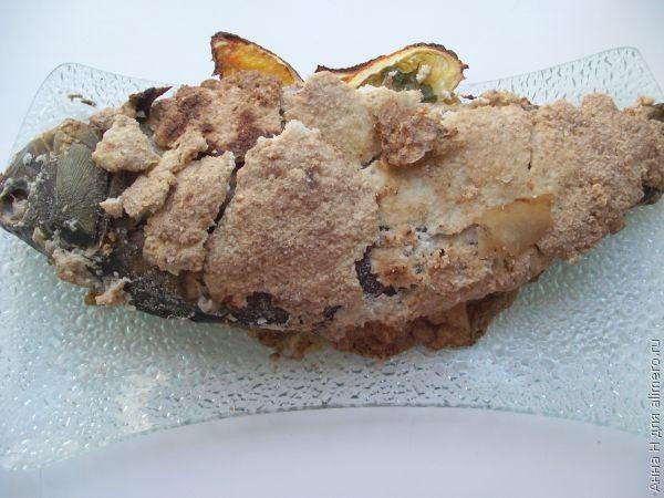 карп запеченный в духовке на соли рецепт