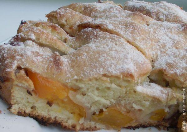 песочный торт с персиками рецепт с фото