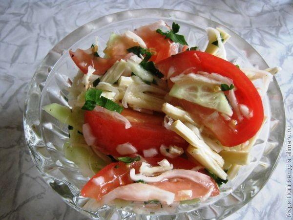 Салат к пельменям  пошаговый рецепт с фото на Поварру