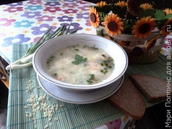 Рисовый суп с плавленными сырками