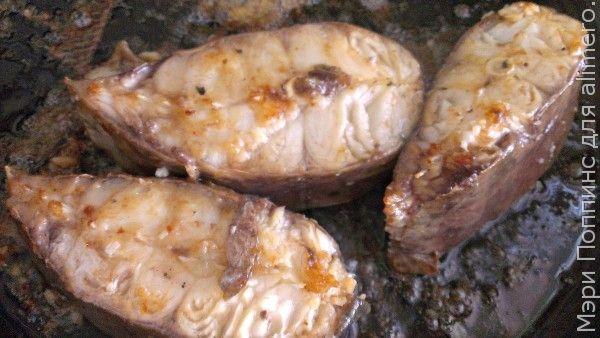 Жареный сом в маринаде