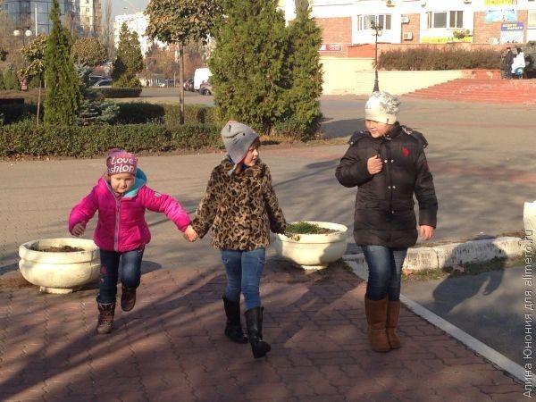 Один день с тремя детьми