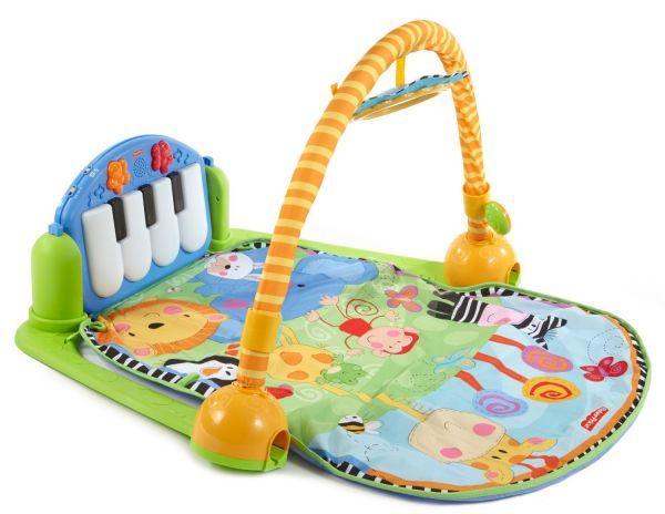 Развивающий коврик - подарок не совсем бюджетный, конечно. Он прекрасно подойдет для детского досуга во время бодрствования, подходит для малышей с рождения.