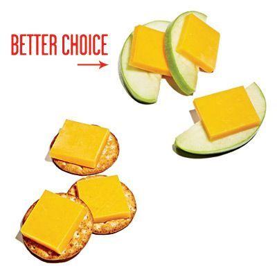 Конечно, разница между крекером и яблоками огромная, но чего не сделаешь ради красивой фигуры? К тому же, подобные снеки мы часто поглощаем не глядя, авось, и яблоки сойдут?
