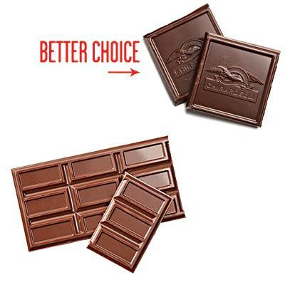 Этот секрет известен, наверное, всем. Действительно, черный шоколад намного полезнее молочного. Например, сахара в нем содержится в два раза меньше.