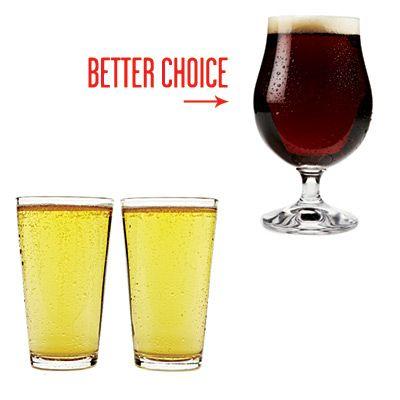 Этот совет мне не совсем понятен. Считается, что для утоления жажды и желания испить хмельного напитка достаточно всего одного бокала темного пива против двух бокалов светлого. Следовательно, и углеводов меньше в организм попадает.
