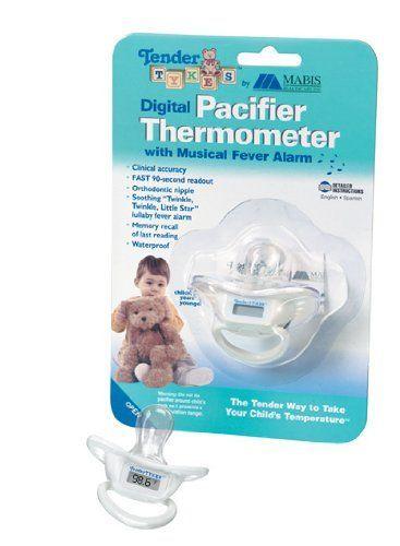 Термометр в виде соски. Согласитесь, им измерять температуру у малыша намного удобнее, чем обычным ртутным.