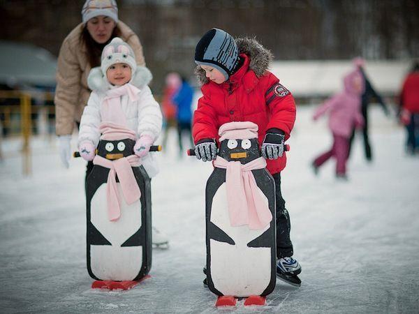 Покататься на коньках. Очень люблю это дело. Рядом с нами целых 3 залитых площадки, можно покататься даже бесплатно.
