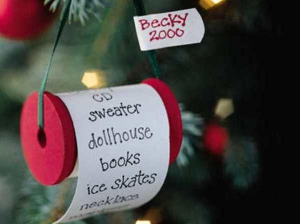 Написать пожелания будущему себе. Я ежегодно пишу пожелания для своих родных, потом прячу их в одну из елочных игрушек (это шар, который раскрывается на 2 половинки). Через год очень интересно читать эти послания.