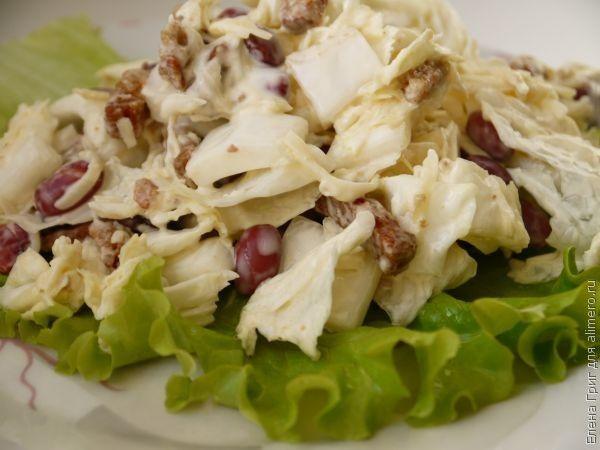 салат с красной фасолью и белокочанной капустой рецепты