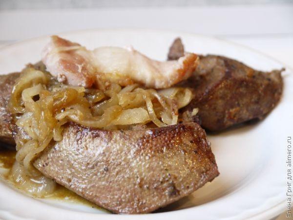 Печенка свиная в духовке рецепт с фото