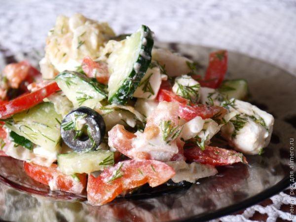 """Салат с пекинской капустой """"Греческий"""""""