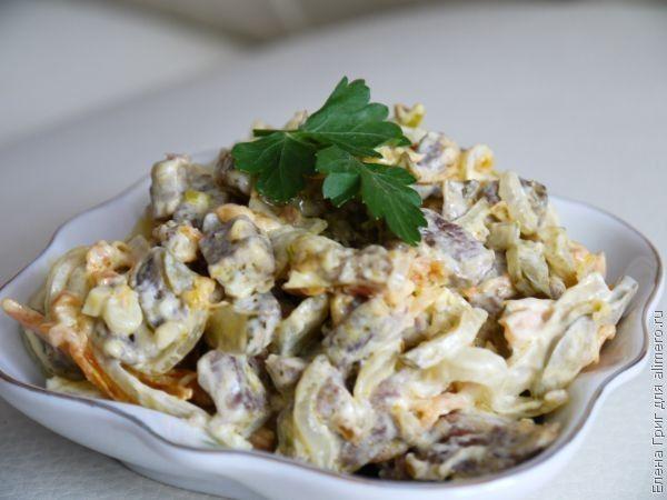Рецепт салата с говядиной и оливковым маслом