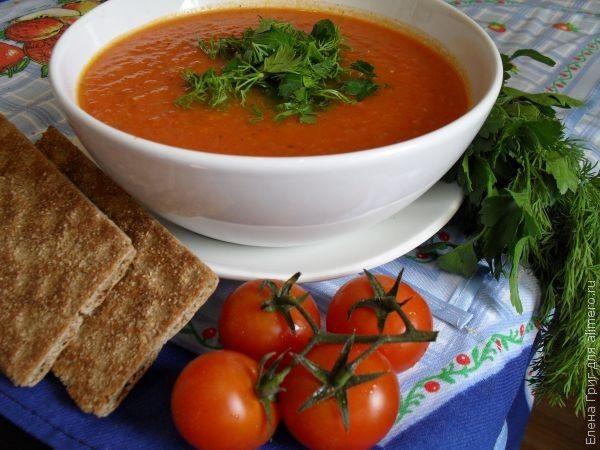 рецепт суп томатный с чесноком