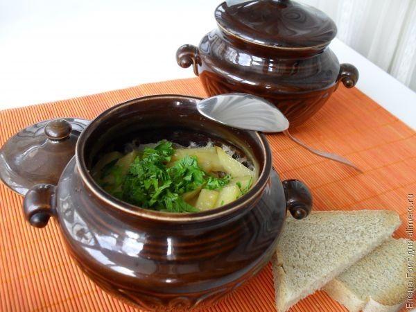 Рецепты в горшочке мясо грибы картошка