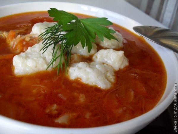 суп с клецками без мяса рецепты с фото