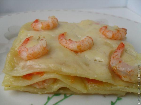 лазанья с креветками рецепт с фото